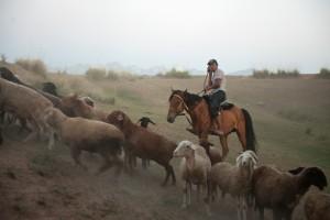 Kyrgyzstan, Jelal-Abad region. Village scene.